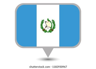 An Illustrated Country Flag of  Guatemala