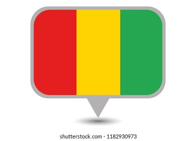 An Illustrated Country Flag of  Guinea