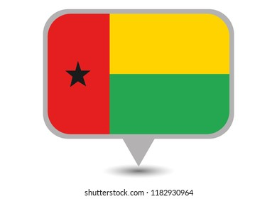 An Illustrated Country Flag of  Guinea Bissau