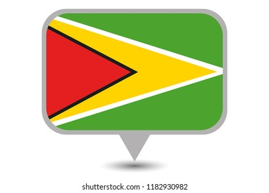 An Illustrated Country Flag of  Guyana