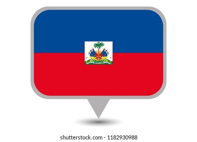 An Illustrated Country Flag of  Haiti