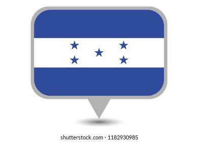 An Illustrated Country Flag of  Honduras