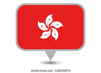 An Illustrated Country Flag of  Hong Kong