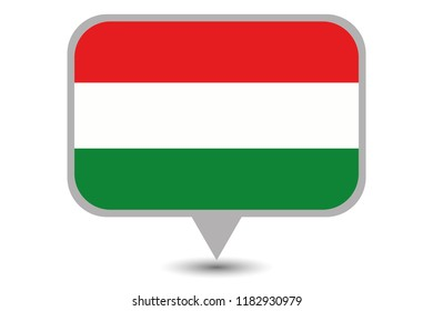 An Illustrated Country Flag of  Hungary