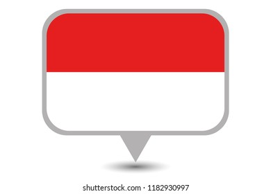 An Illustrated Country Flag of  Indonesia