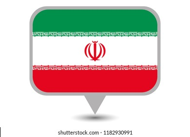 An Illustrated Country Flag of  Iran