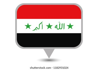 An Illustrated Country Flag of  Iraq