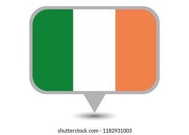 An Illustrated Country Flag of  Ireland