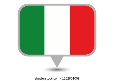 An Illustrated Country Flag of  Italy