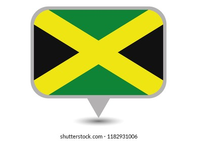 An Illustrated Country Flag of  Jamaica