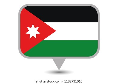 An Illustrated Country Flag of  Jordan