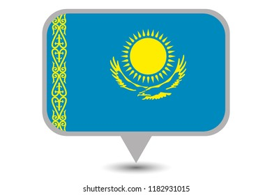 An Illustrated Country Flag of  Kazakstan