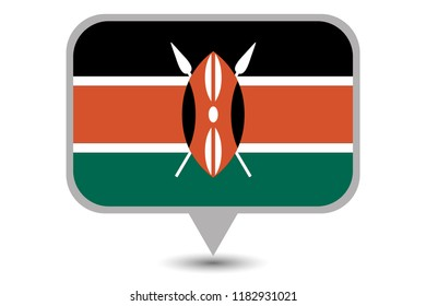An Illustrated Country Flag of  Kenya