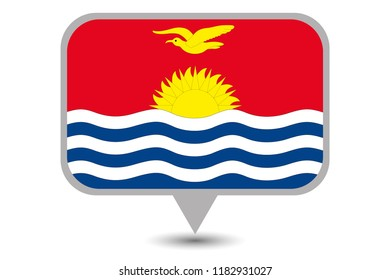 An Illustrated Country Flag of  Kiribati