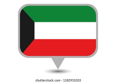 An Illustrated Country Flag of  Kuwait