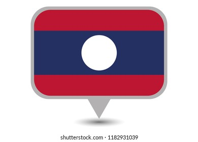 An Illustrated Country Flag of  Laos