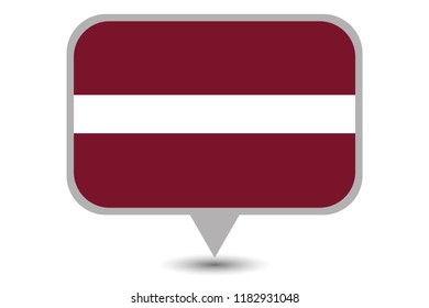 An Illustrated Country Flag of  Latvia