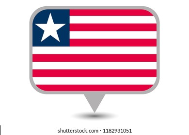 An Illustrated Country Flag of  Liberia