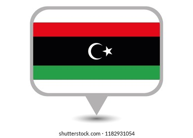 An Illustrated Country Flag of  Libya