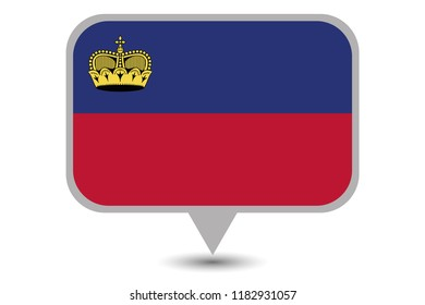 An Illustrated Country Flag of  Liechtenstein