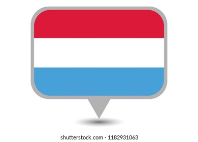 An Illustrated Country Flag of  Luxembourg