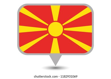 An Illustrated Country Flag of  Macedonia