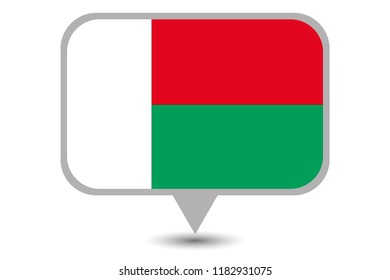 An Illustrated Country Flag of  Madagascar