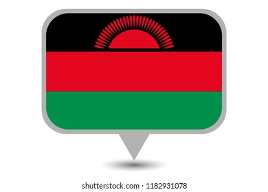 An Illustrated Country Flag of  Malawi