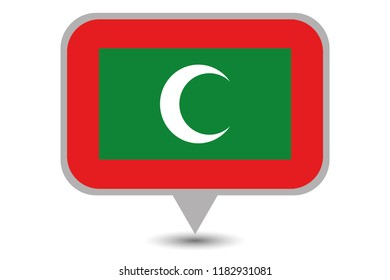 An Illustrated Country Flag of  Maldives