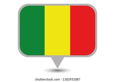 An Illustrated Country Flag of  Mali