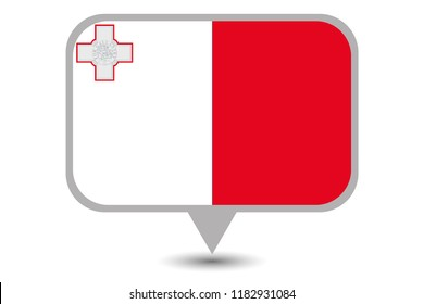 An Illustrated Country Flag of  Malta