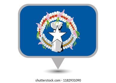 An Illustrated Country Flag of  Marianas
