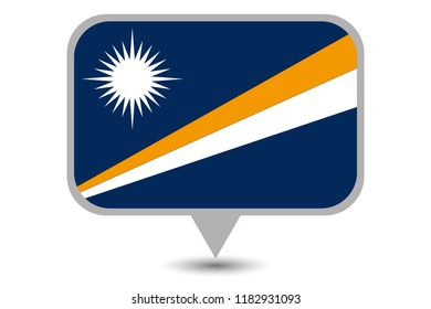 An Illustrated Country Flag of  Marshall Islands
