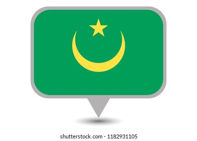 An Illustrated Country Flag of  Mauritania