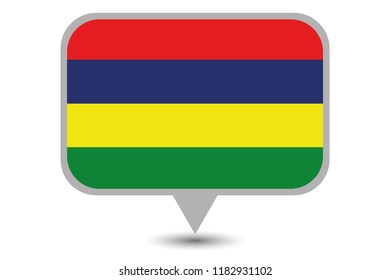 An Illustrated Country Flag of  Mauritius
