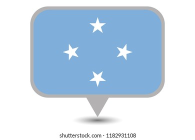 An Illustrated Country Flag of  Micronesia