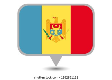 An Illustrated Country Flag of  Moldova