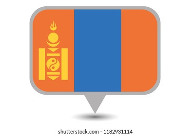 An Illustrated Country Flag of  Mongolia