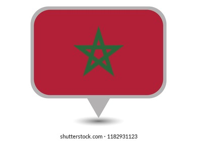 An Illustrated Country Flag of  Morocco