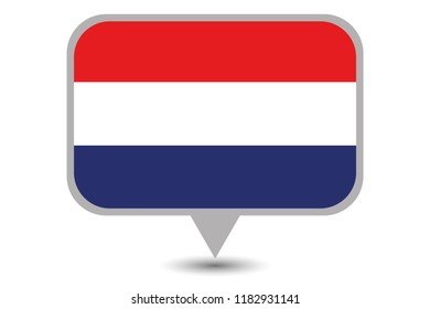 An Illustrated Country Flag of  Netherlands