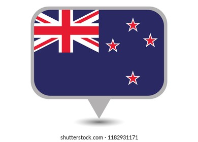 An Illustrated Country Flag of  New Zealand