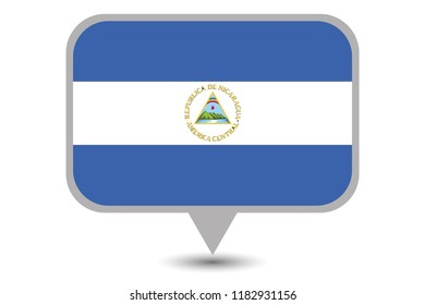 An Illustrated Country Flag of  Nicaragua