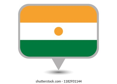 An Illustrated Country Flag of  Niger