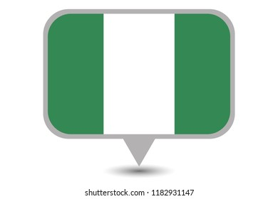 An Illustrated Country Flag of  Nigeria