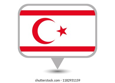 An Illustrated Country Flag of  Northern Cyprus