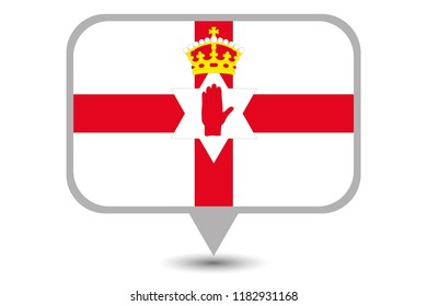 An Illustrated Country Flag of  Northern Ireland