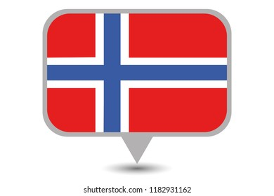 An Illustrated Country Flag of  Norway