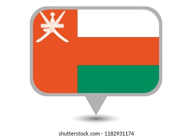 An Illustrated Country Flag of  Oman