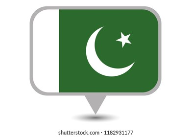 An Illustrated Country Flag of  Pakistan