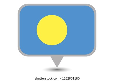 An Illustrated Country Flag of  Palau